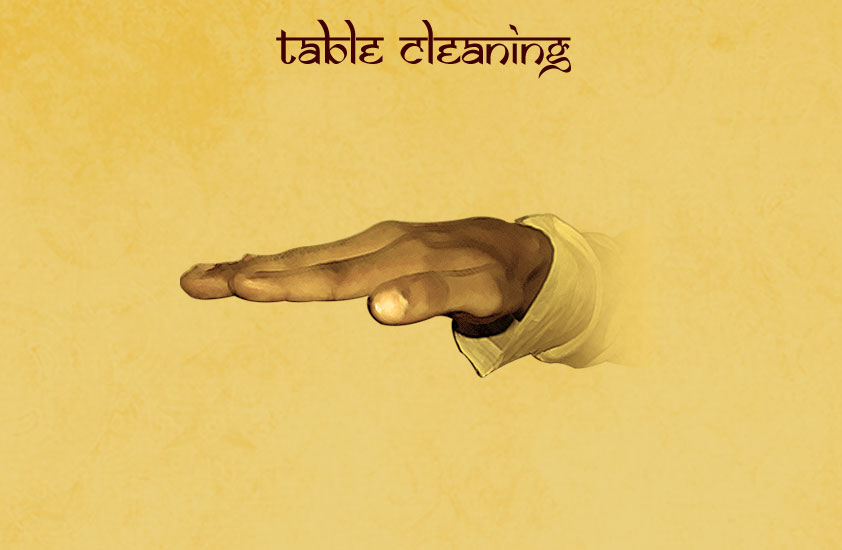 Table-cleaning
